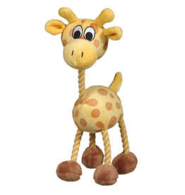 DO - Dogit Dogit inPuppy Luvzin Plush Dog Toy with Squeaker Yellow Giraffe