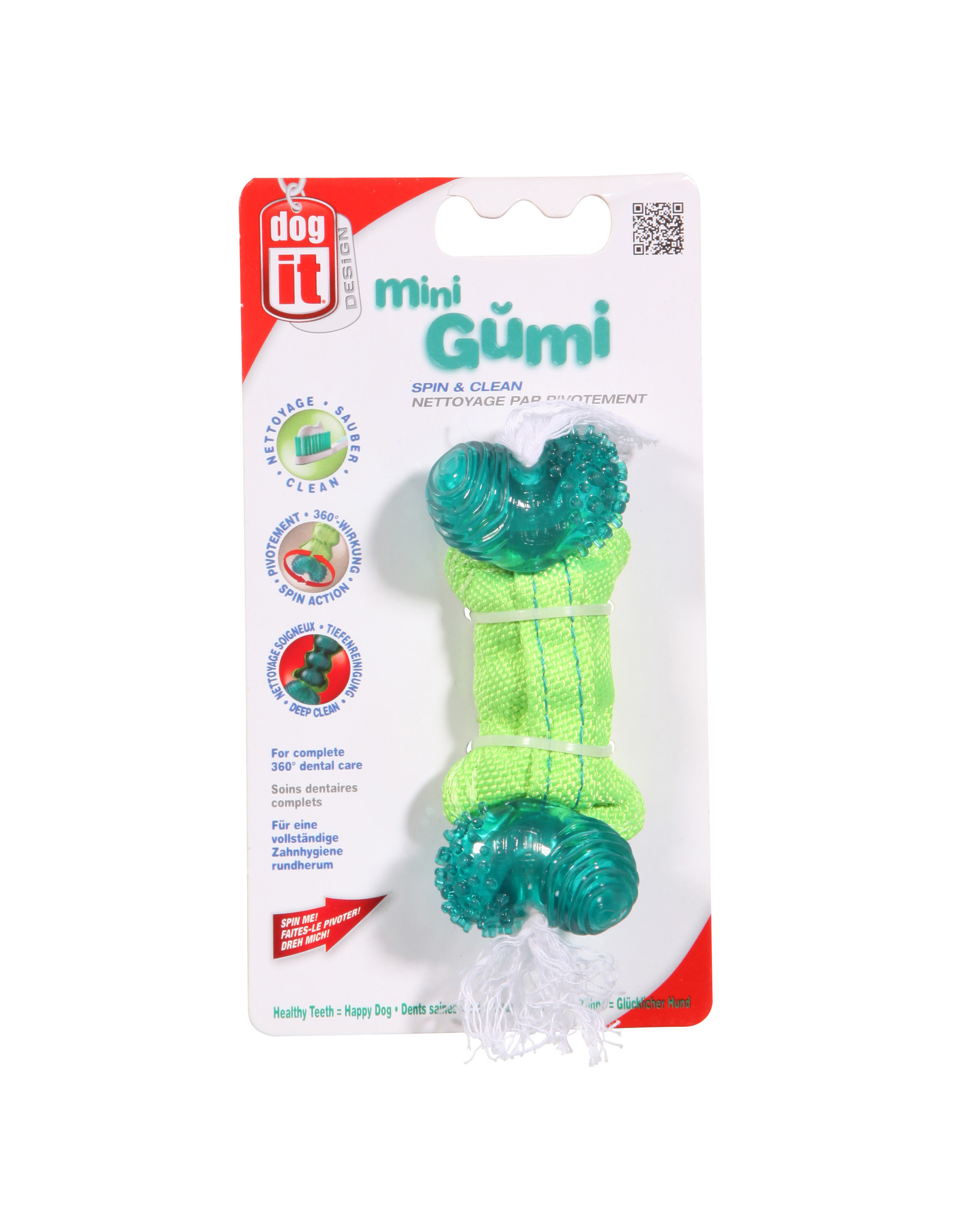 ZS - Zeus Zeus Gumi Dental Dog Toy - Spin & Clean - Mini