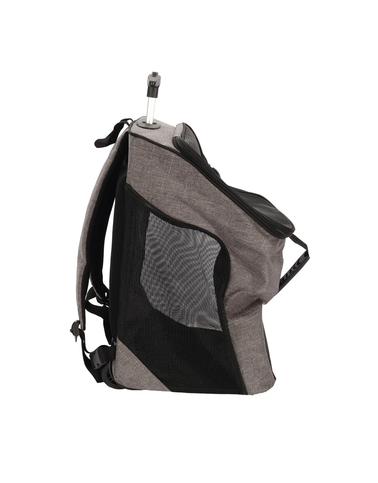 DO - Dogit Dogit Explorer Soft Carrier 2-in-1 Wheeled Carrier/Backpack - Gray