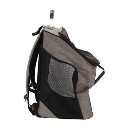 DO - Dogit Dogit Explorer Soft Carrier 2-in-1 Wheeled Carrier/Backpack - Gray