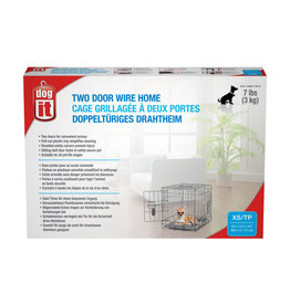 DO - Dogit Dogit Two Door Wire Home Crates with Divider