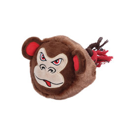 DO - Dogit Dogit Stuffies Dog Toy – Big Head Friend - Monkey - 23 cm (9 in)