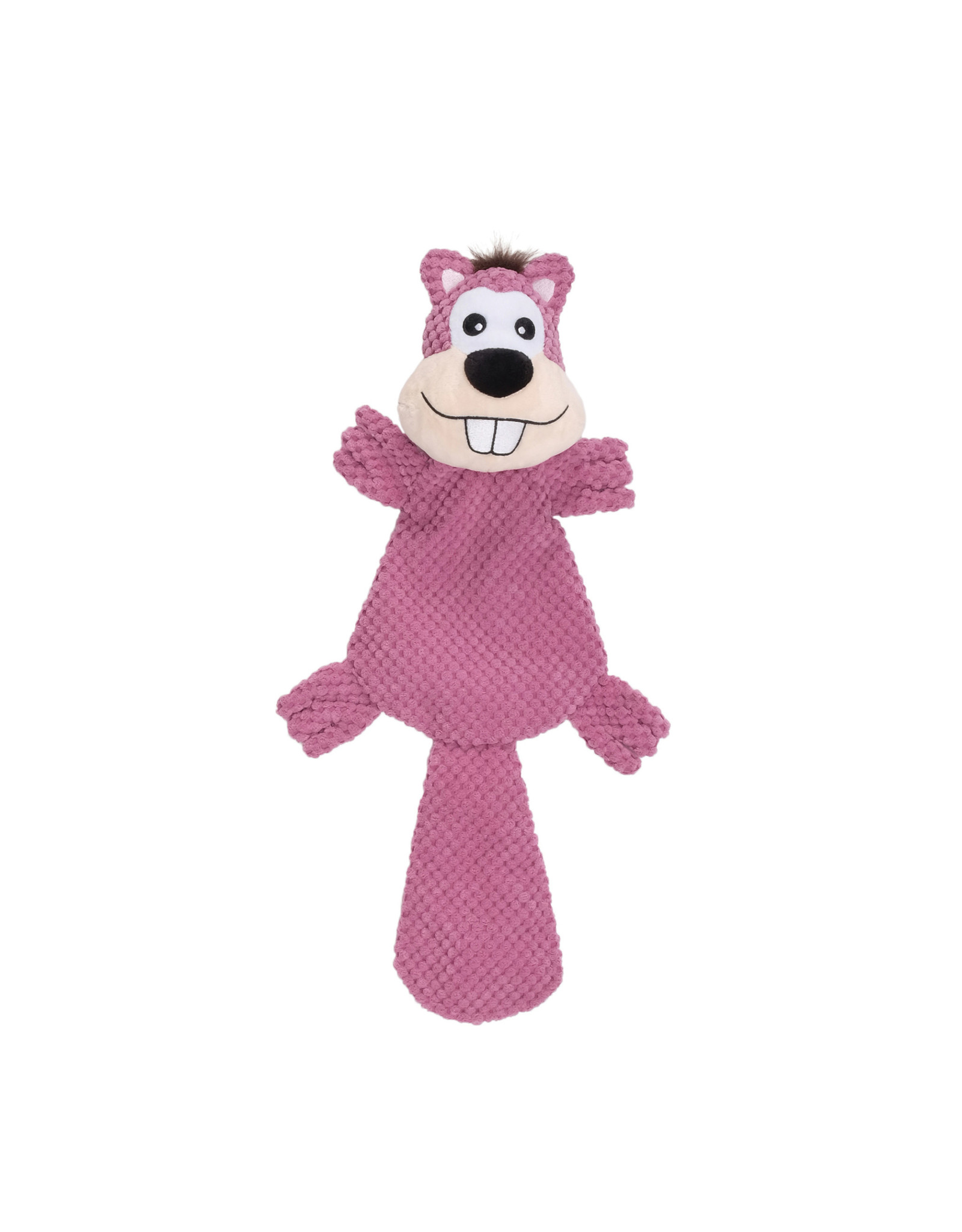 DO - Dogit Dogit Stuffies Dog Toy – XL Flat Friend - Beaver - 49 cm (19.5 in)