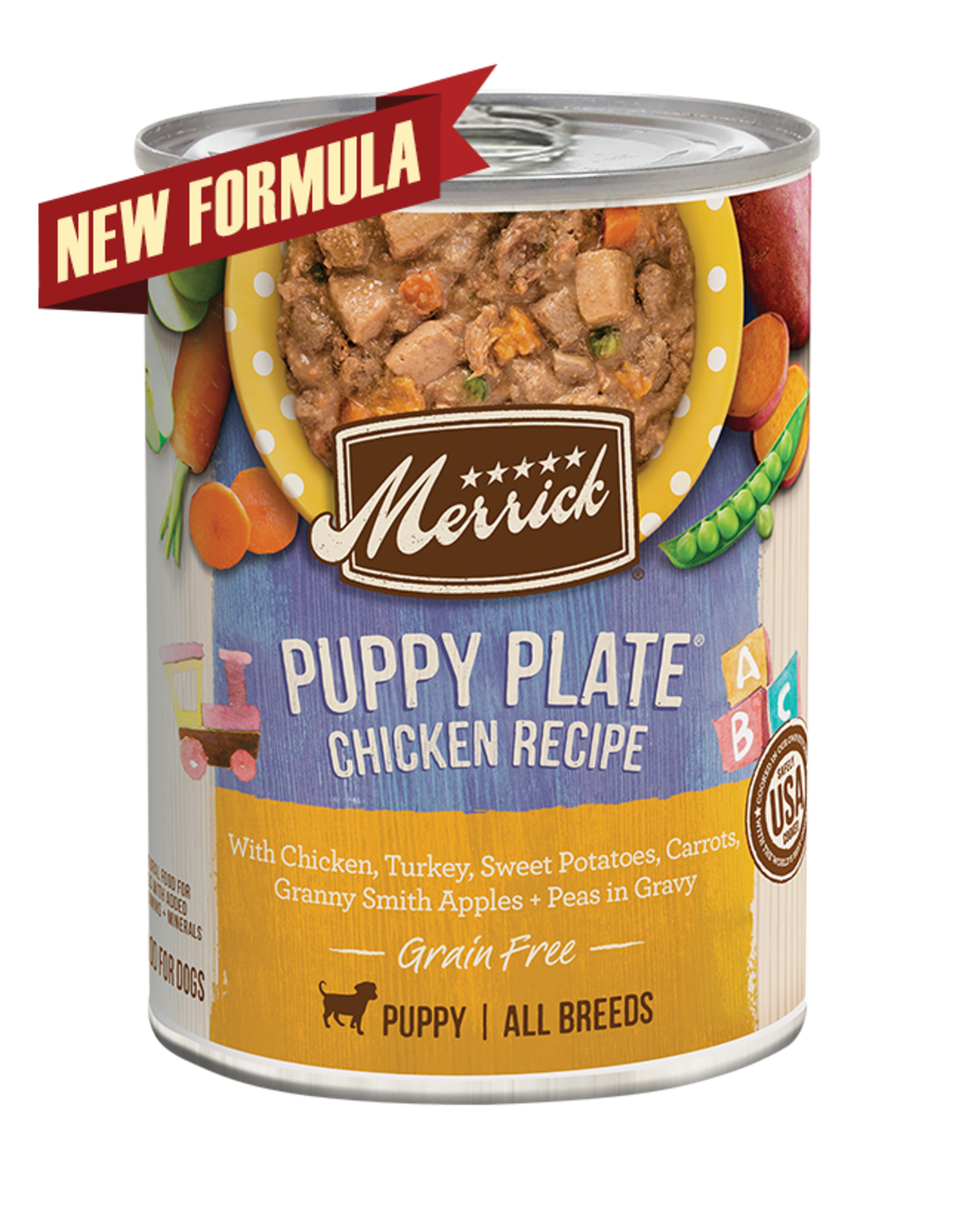 Merrick Merrick Dog Puppy Plate Chicken 12oz