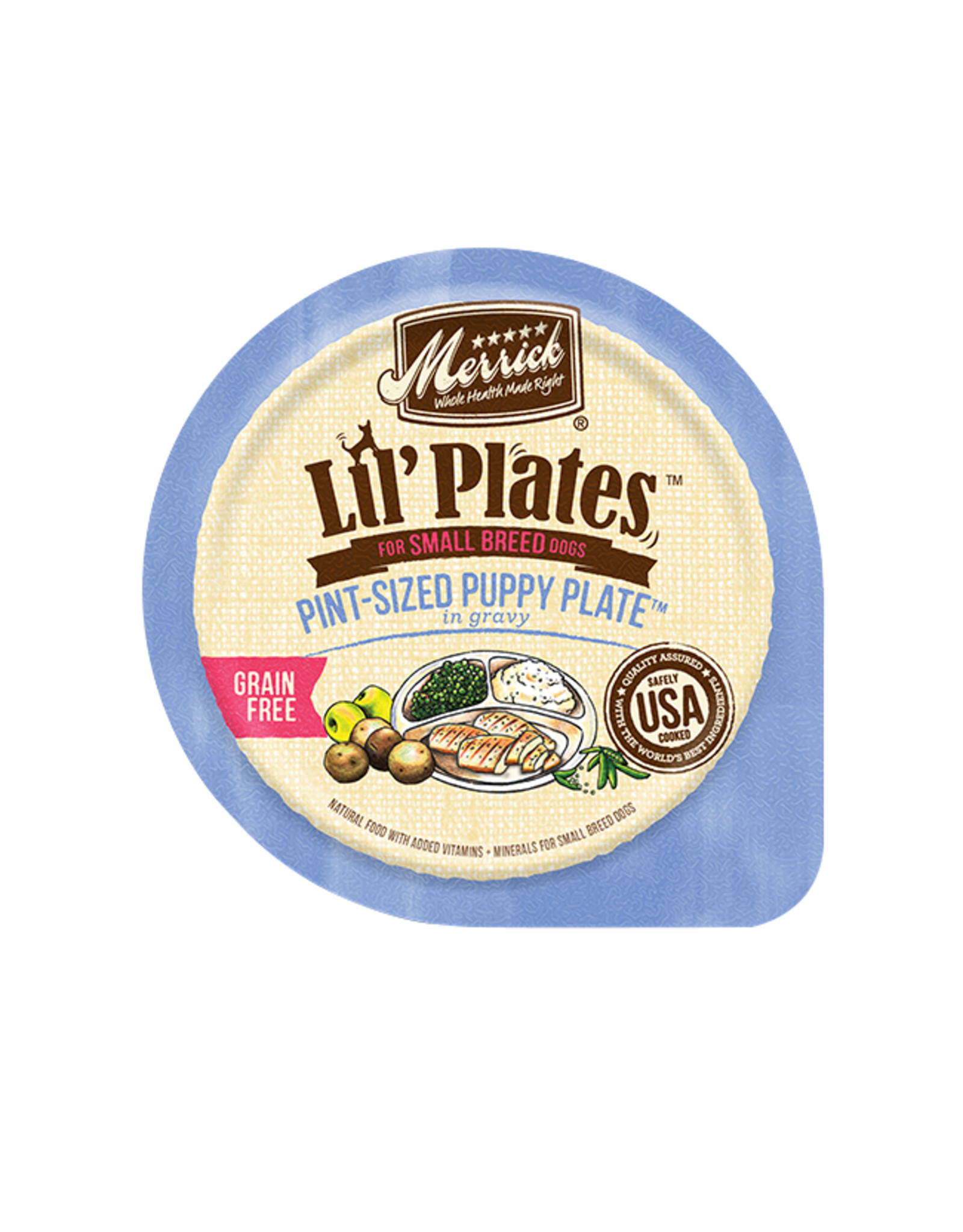 Merrick Merrick Lil' Plates GF Tiny Puppy 3.5oz