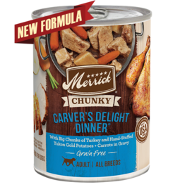 Merrick Merrick Dog Chunky Carvers Delight Dinner 12oz