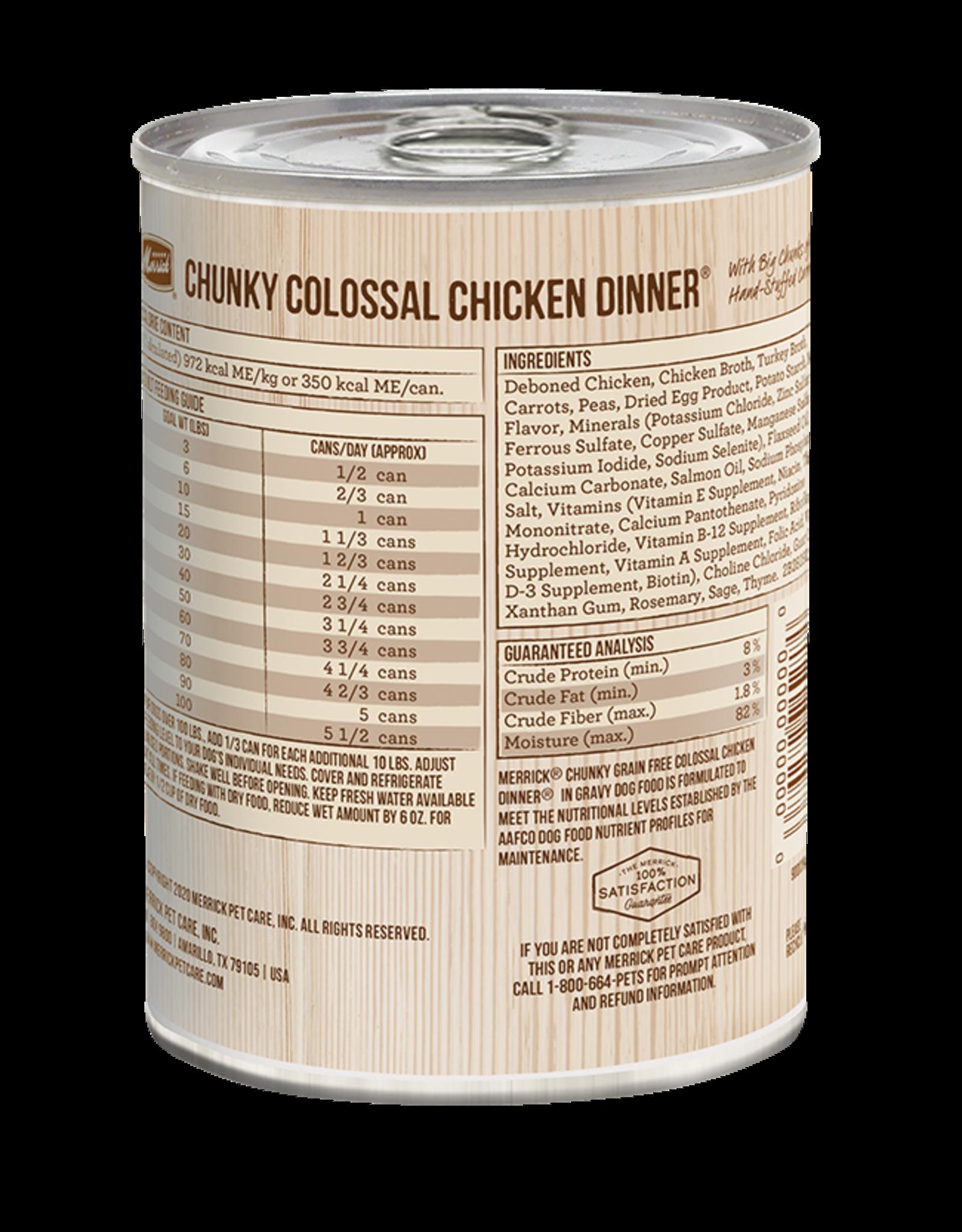 Merrick Merrick Dog Chunky Colossal Chicken Dinner 12oz