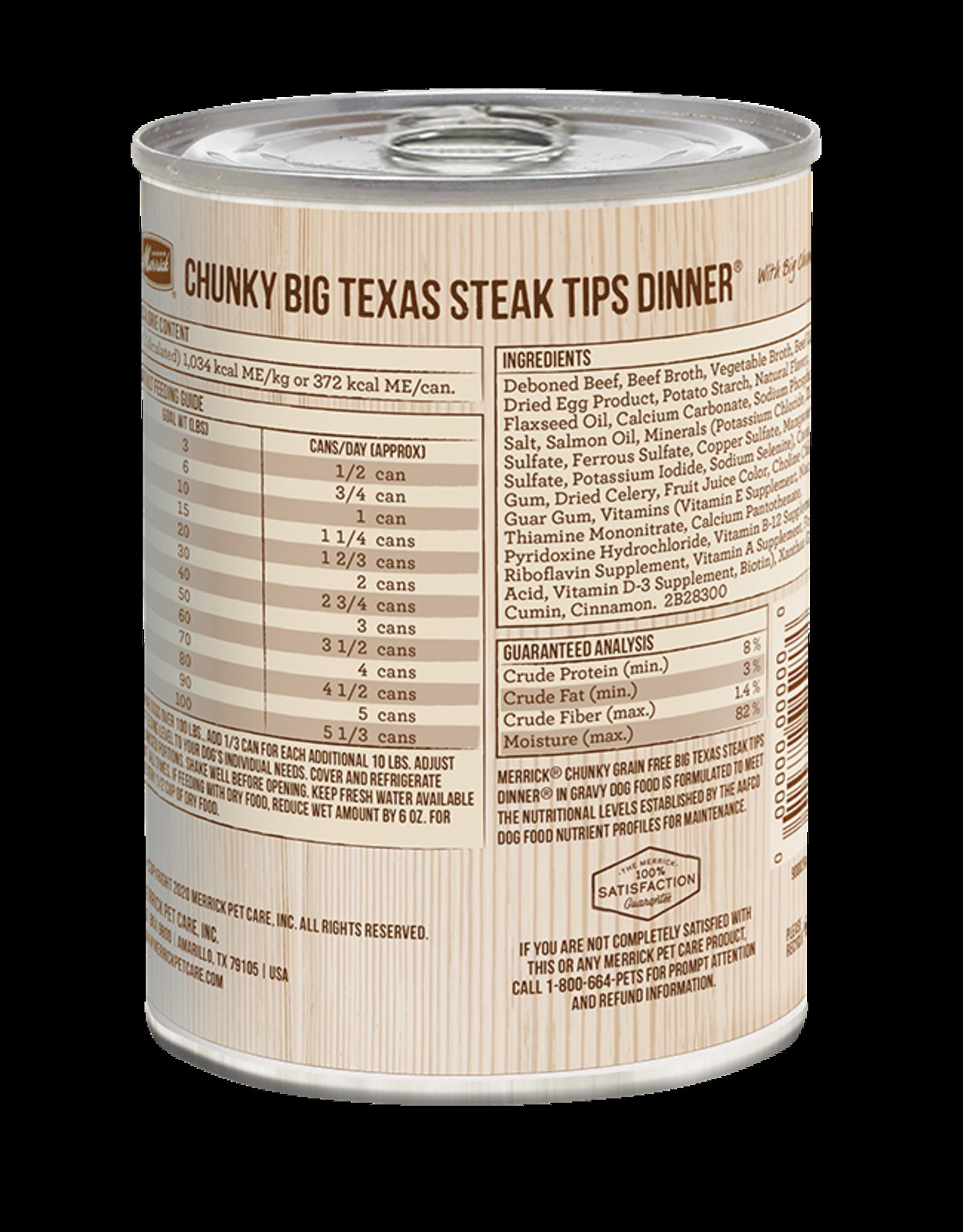 Merrick Merrick Dog Chunky BIg Texas Steak Tips Dinner 12oz