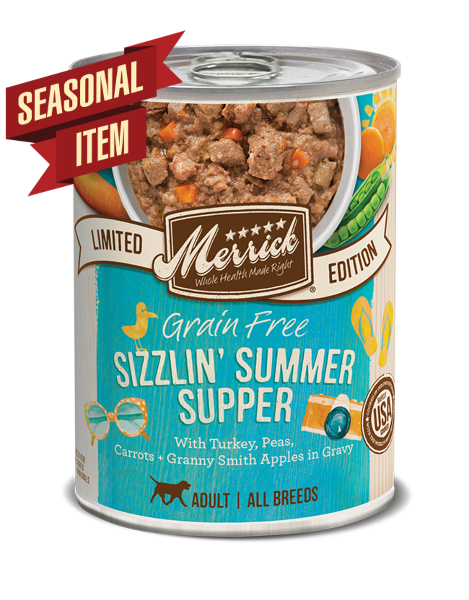 Merrick Merrick Dog Sizzlin' Summer Supper 12oz