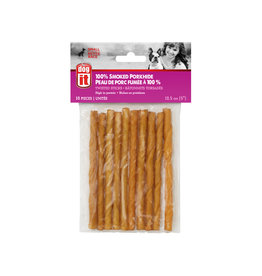 DO - Dogit Dogit Smoked Porkhide Twist - Small - 12.5 cm (5in) - 10 pack