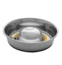 DO - Dogit Dogit Stainless Steel Non-Skid Slow Feed Dog Bowl