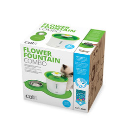 CT - Catit 2.0 Catit Flower Fountain and Peanut Placemat Combo