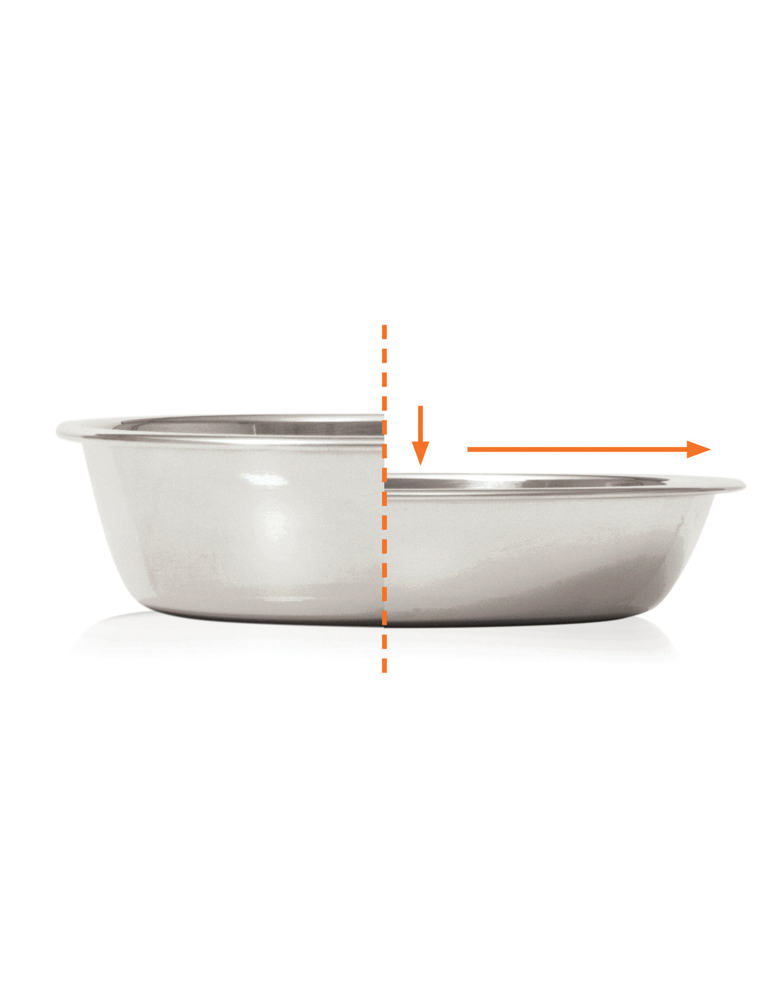 CT - Catit 2.0 Catit Feeding Double Dish - Black - 2 x 200 ml (6.83 fl oz)