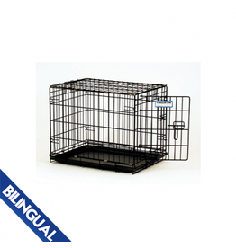 Precision Precision Dog Crate 2-Door - Black