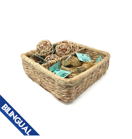Oxbow OXBOW \ Enriched Life \ Deluxe Hay Wrap & Rattan Ball Basket