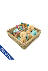 Oxbow OXBOW \ Enriched Life \ Play Pom & Rainbow Knot Stick Basket