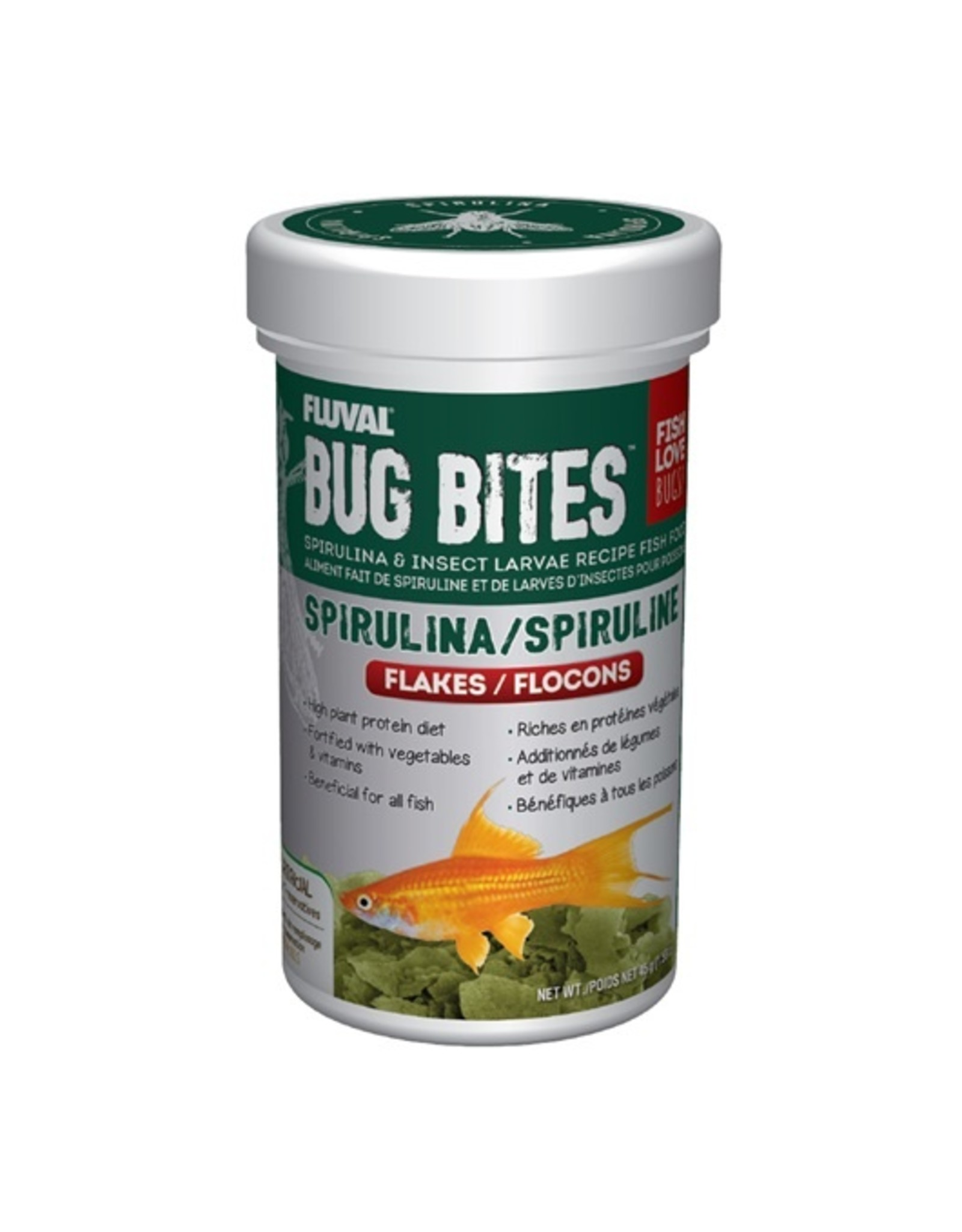 FL - Fluval Fluval Bug Bites Spirulina Flakes 45g