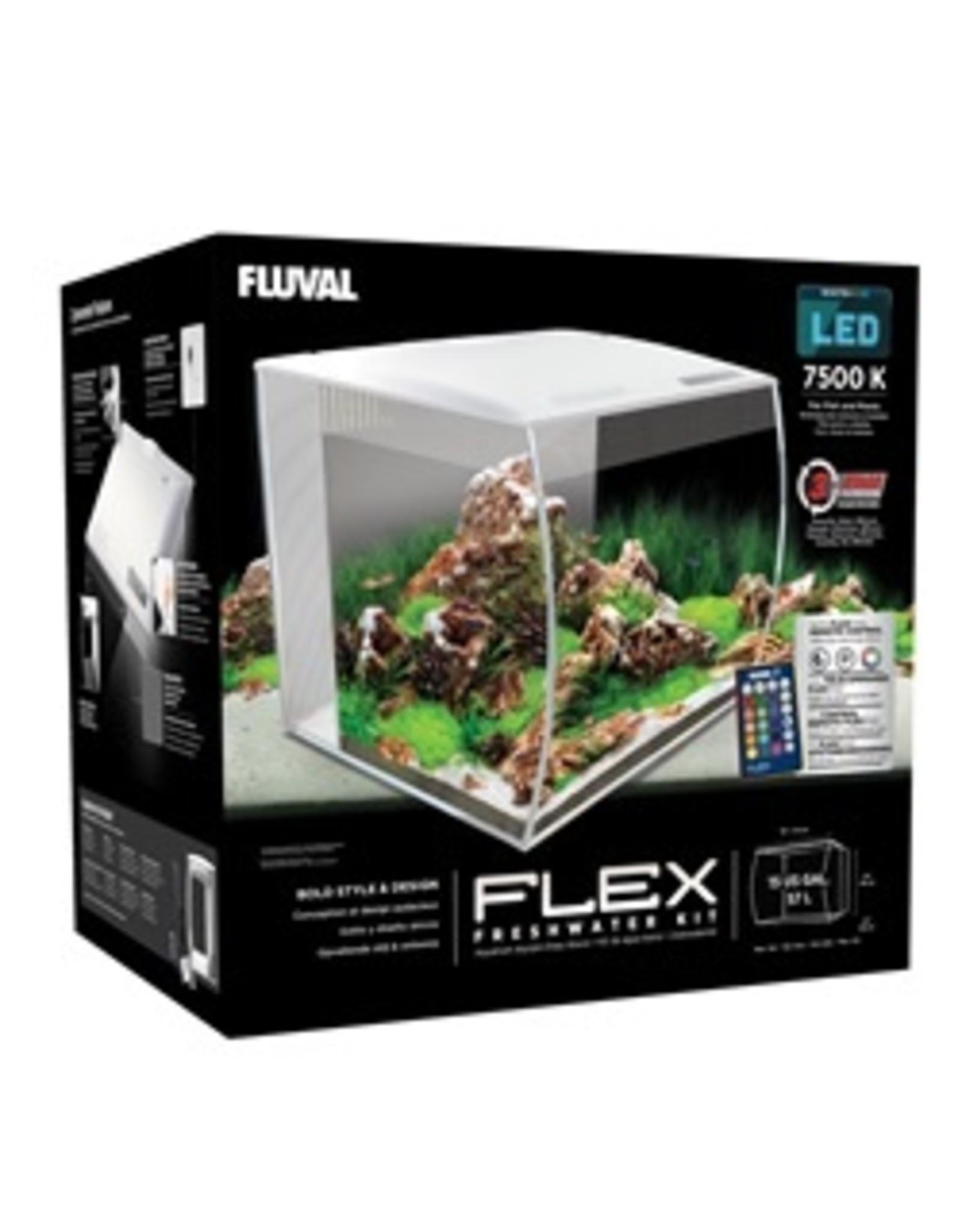 FL - Fluval Fluval Flex Aquarium, White, 57L,15gal