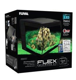 FL - Fluval Fluval Flex Aquarium, Black, 57L (15gal)