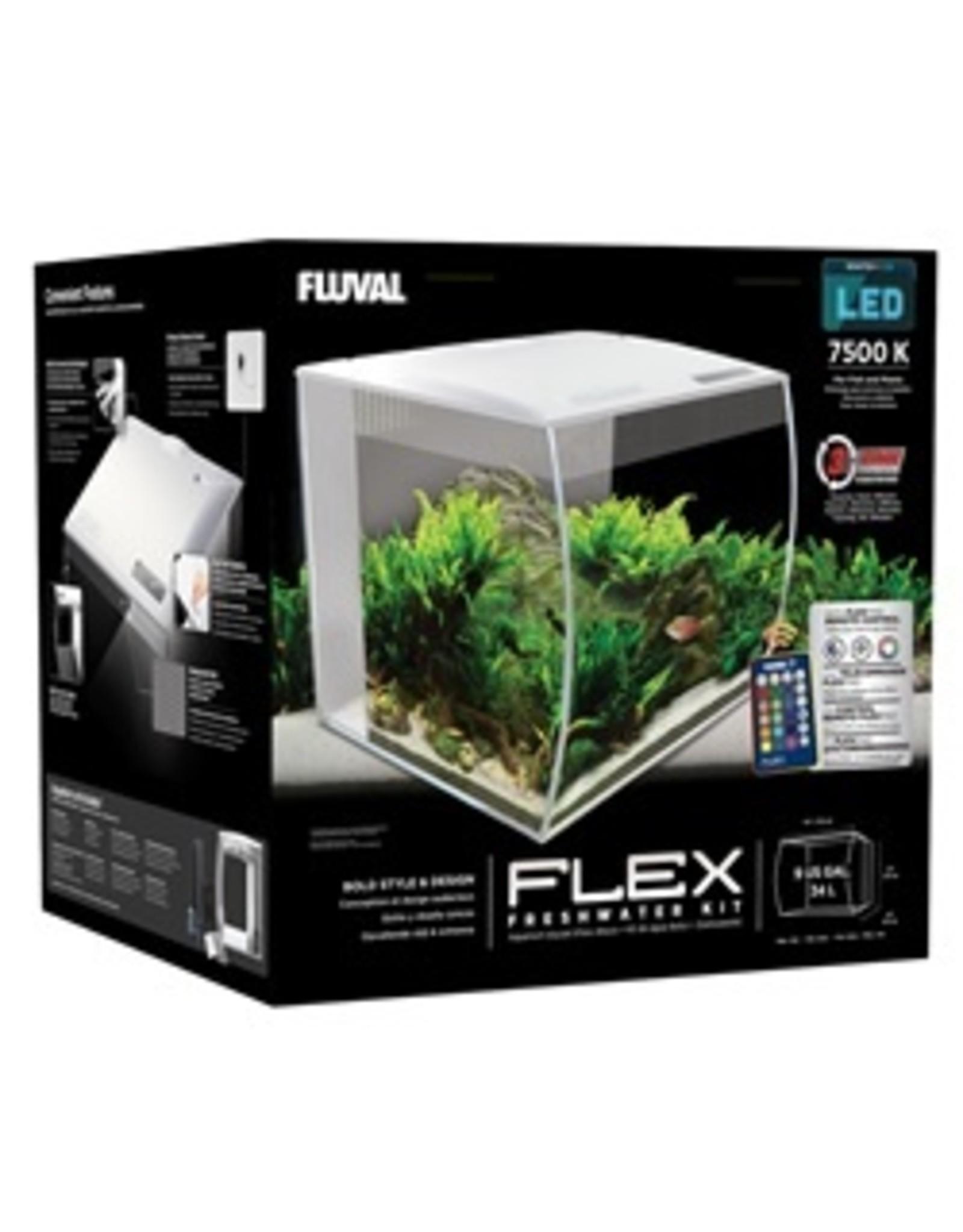 FL - Fluval Fluval Flex Aquarium, White, 34L (9gal)