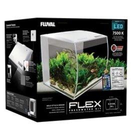 FL - Fluval Fluval Flex Aquarium, White, 34L (9gal) - PP