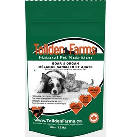 Tollden Tollden Farms Ground Boar and Organ 8lb (16 8oz patties)