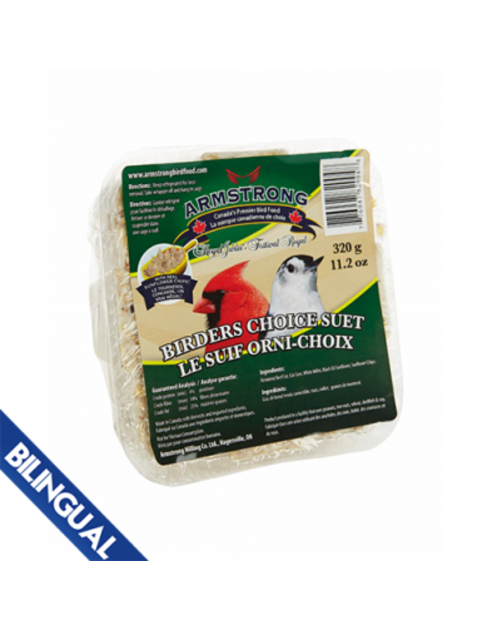 Armstrong Milling Armstrong Birders Choice Suet 320 g