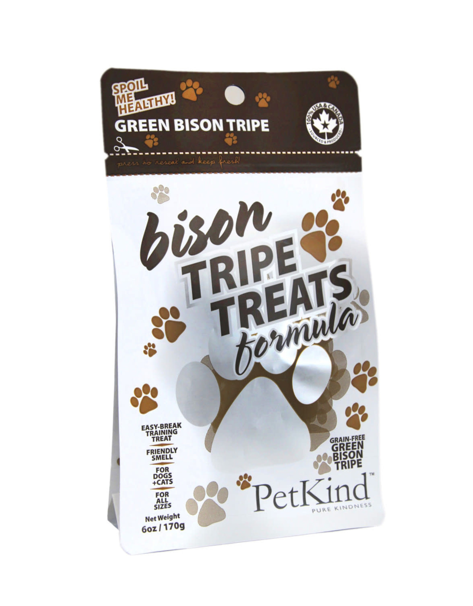 Petkind Tripett Bison Tripe Treats 6 oz