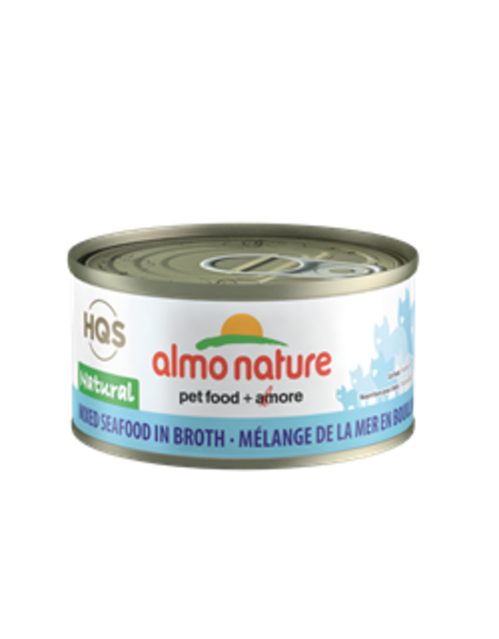 almo Almo Nature Natural Mixed Seafood in Broth Cat 70g