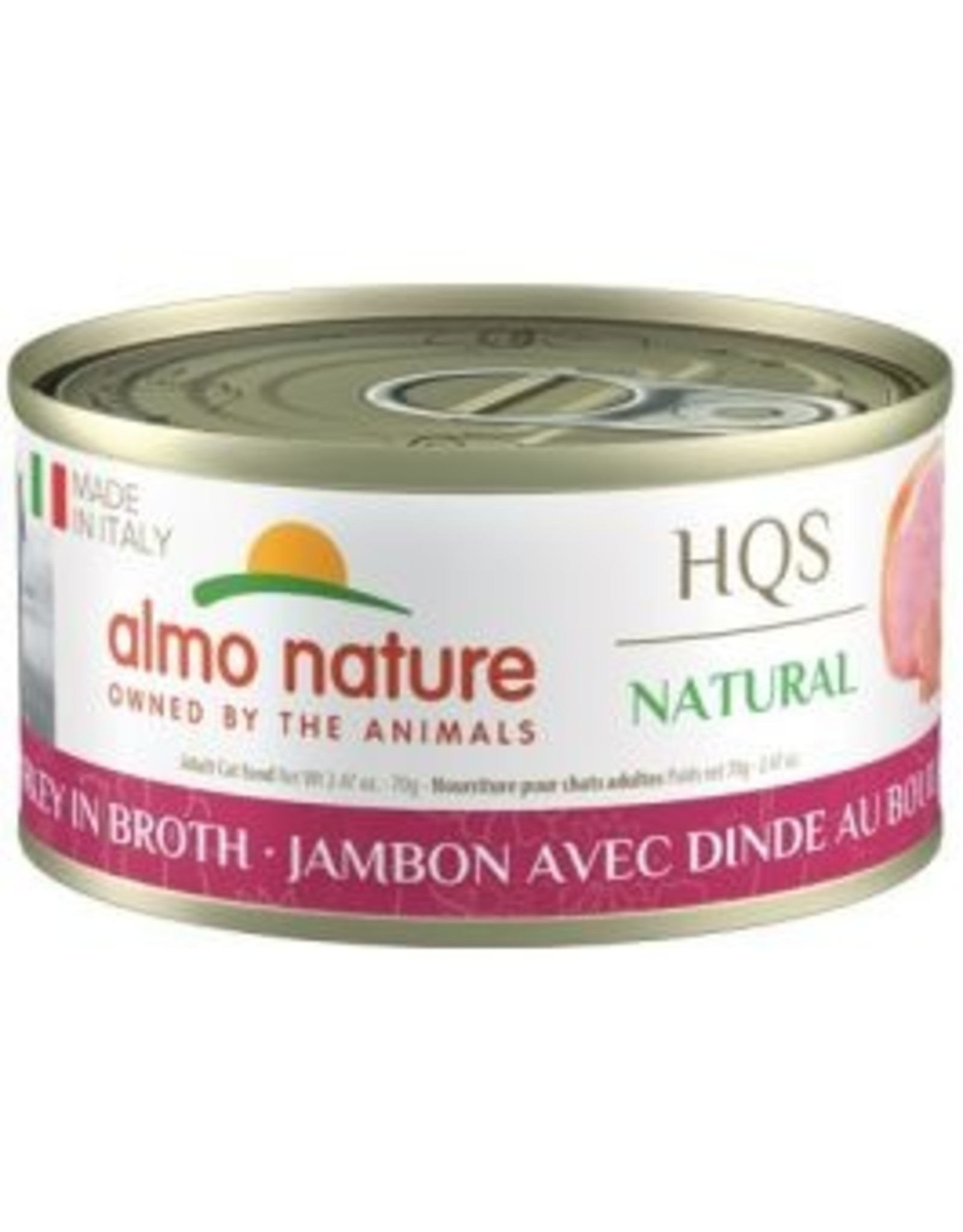 almo Almo Nature Natural Made in Italy Ham w/Turkey in Broth Cat 70g