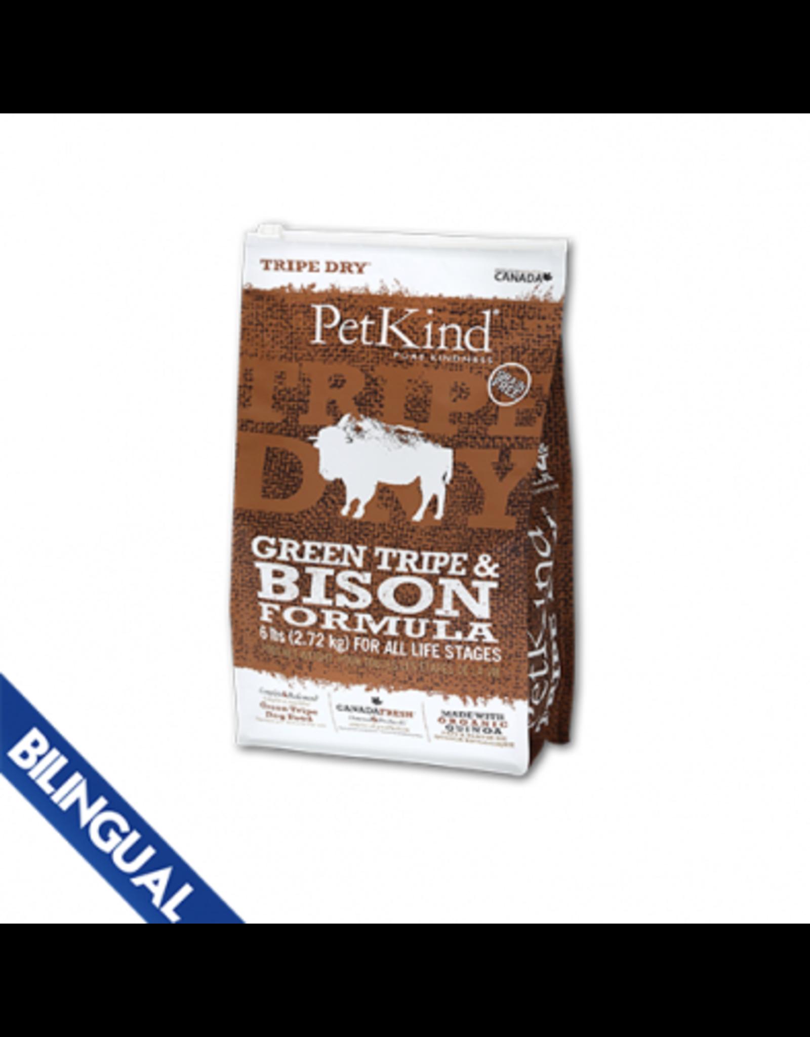 Petkind Petkind Green Tripe & Bison Dry Dog Food
