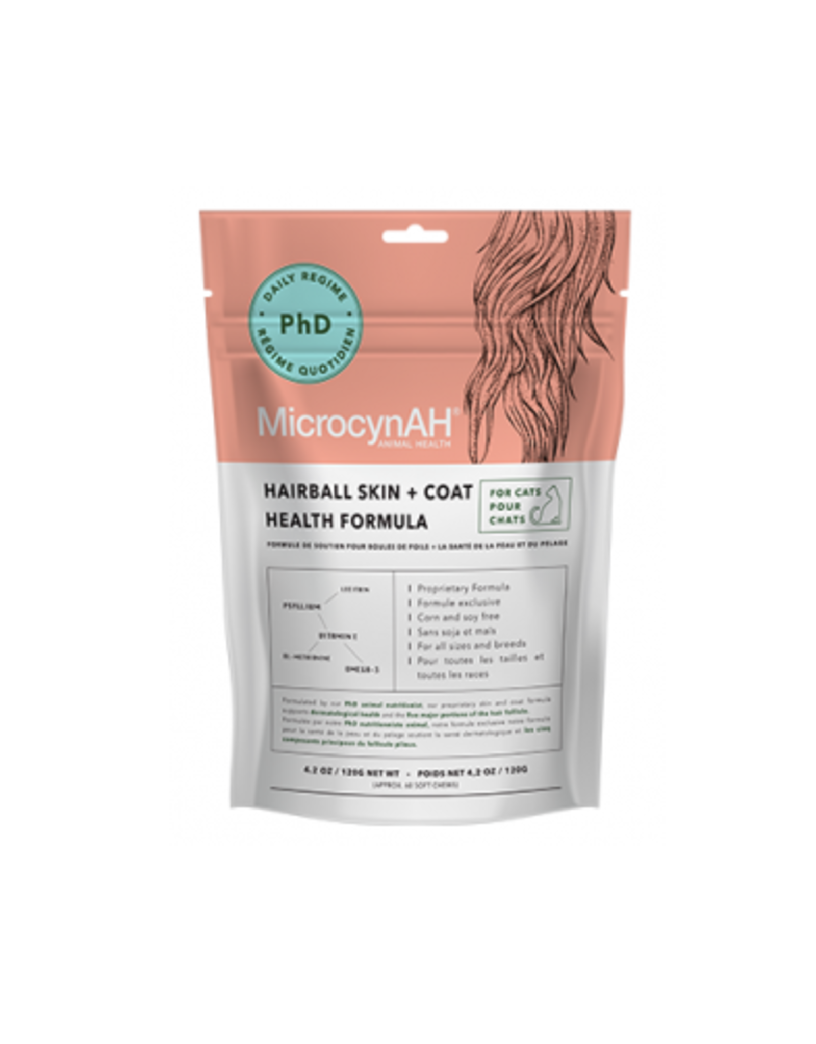 MicrocynAH MicrocynAH Hairball Skin & Coat for Cats 4.2 oz