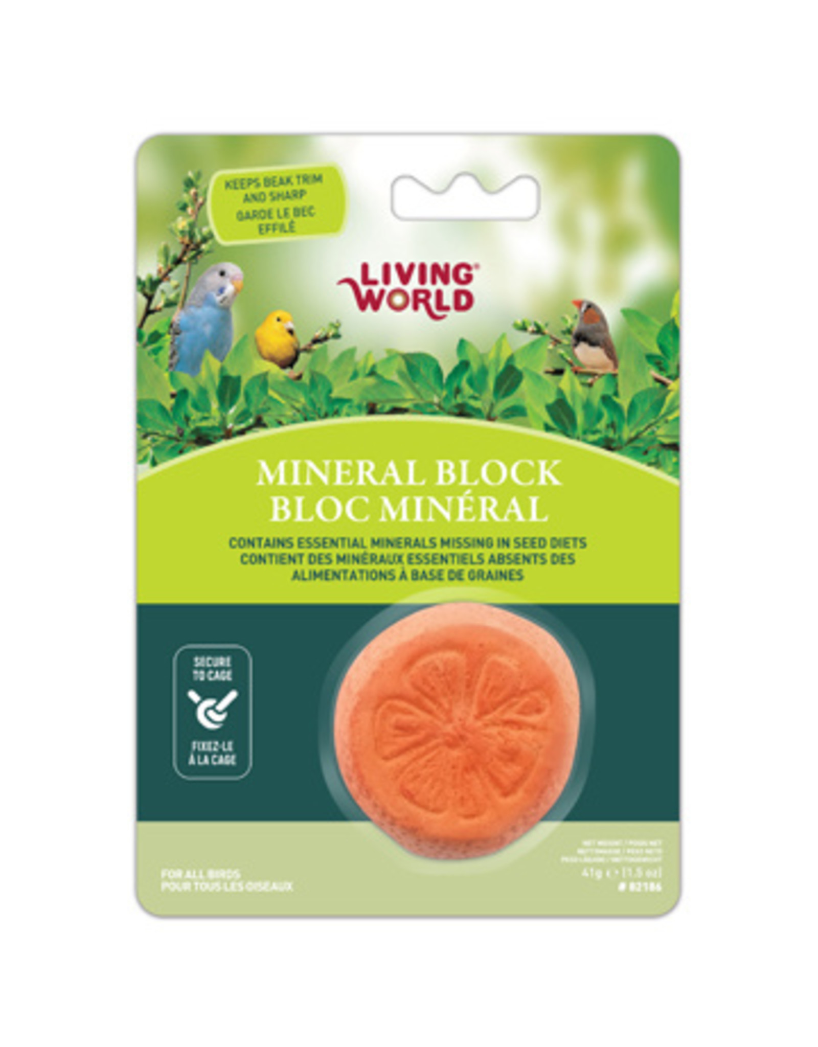 Living World Living World Orange-Shaped Mineral Block for Birds - 41 g (1.5 oz)
