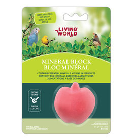 LW - Living World Living World Apple-Shaped Mineral Block for Birds - 31 g (1.1 oz)