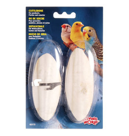 LW - Living World Living World Cuttlebone with Holder - Small - 12.5 cm (5in) - Twinpack
