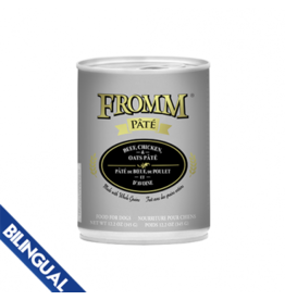 Fromm Fromm Pate Dog Can Beef, Chicken & Oats 12.2oz single