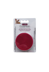 LS - Le Salon Le Salon Essentials Dog Round Rubber Grooming Brush, Red - 3in dia.