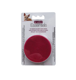 LS - Le Salon Le Salon Essentials Dog Round Rubber Grooming Brush, Red - 3in dia.