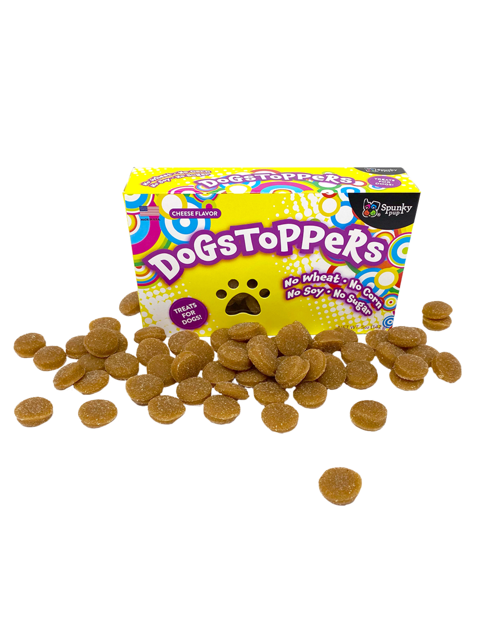 Spunky Pup Spunky Pup Dog Treats- Dogstoppers Cheese 5oz