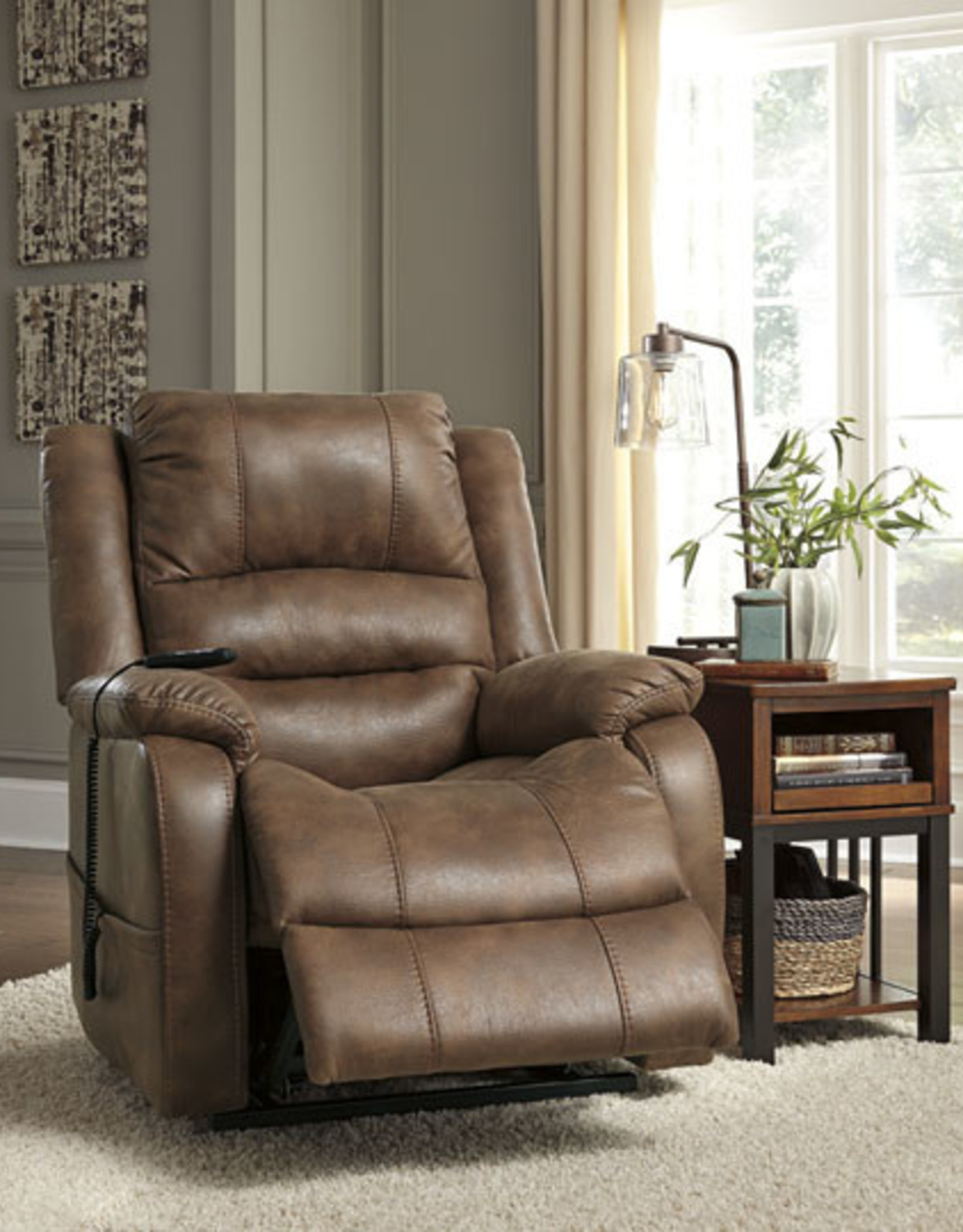 Yandel Power Lift Recliner (Saddle) - Online Only