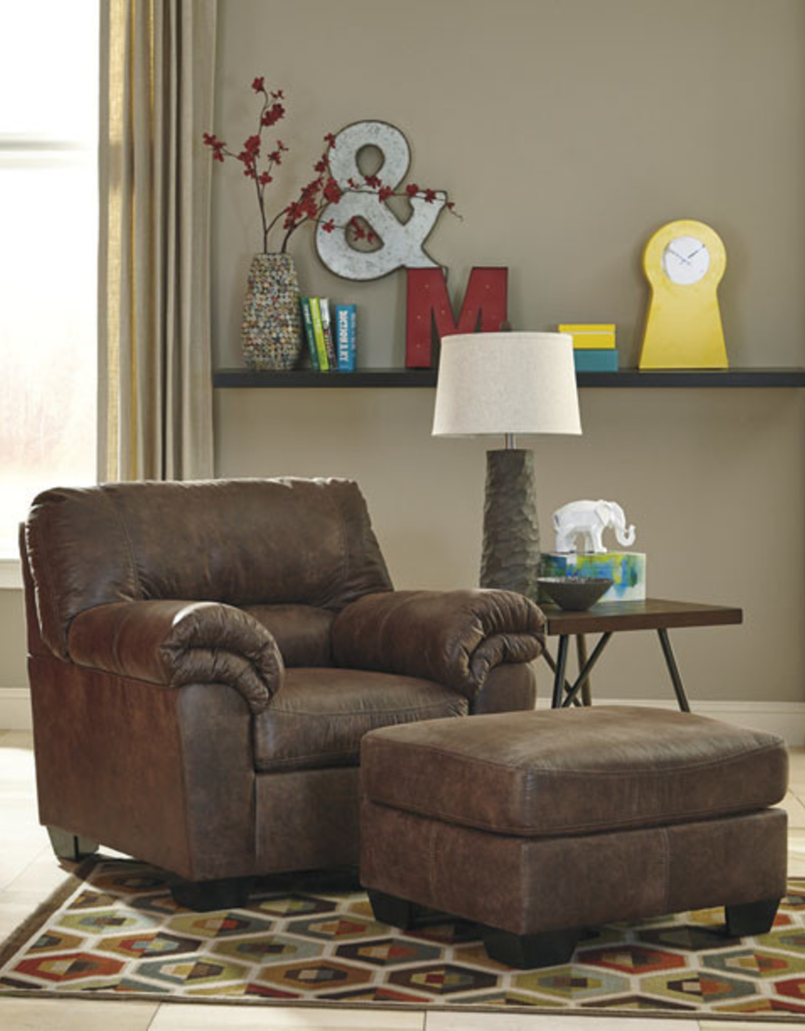 Bladen Sofa (Coffee) Displayed in Showroom in Slate