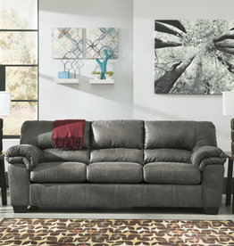 Bladen Sofa (Slate) Displayed in Showroom in Coffee