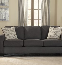 Alenya Sofa (Charcoal) Displayed in Showroom