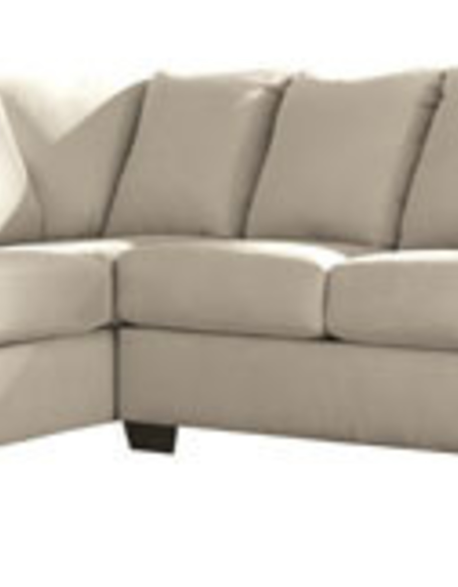 Darcy Sofa (Stone) Displayed in Showroom in Black