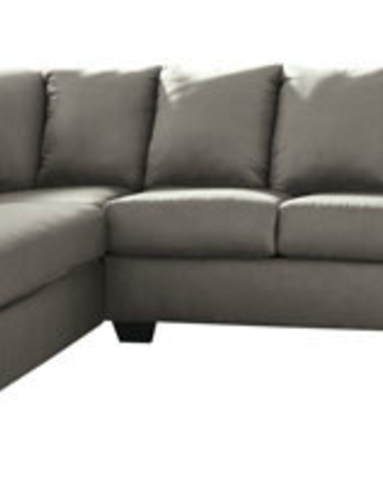 Darcy Sofa (Cobblestone) Displayed in Showroom in Black