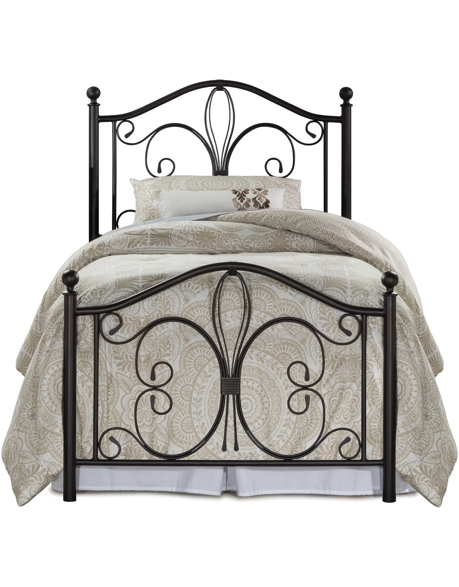 Milwaukee Metal Bed (Includes headboard, footboard, and rails)