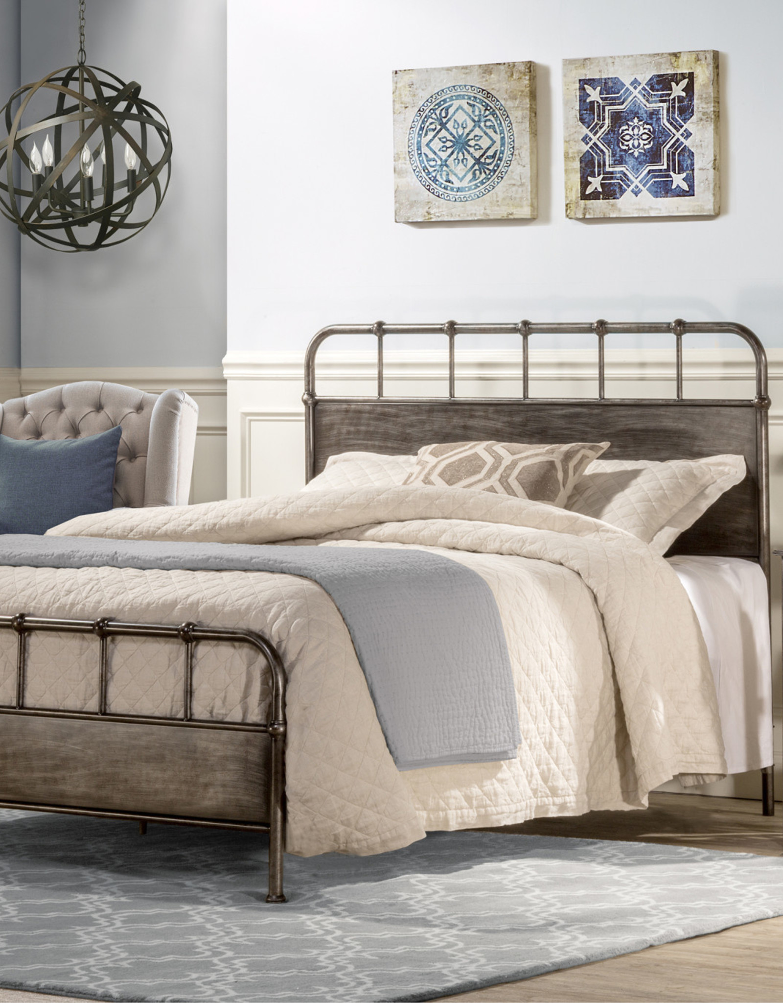 Grayson Bed (Includes headboard, footboard, and rails)