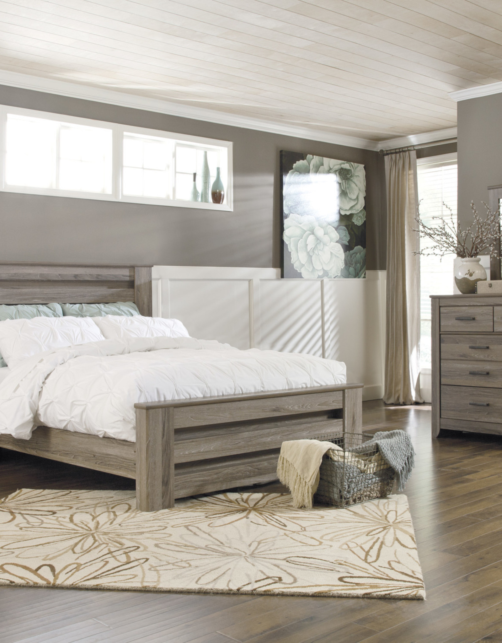 Zelen Bed (Includes headboard, footboard, and rails)