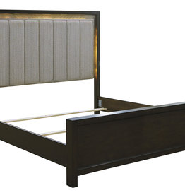 Maretto Bed with LED Lights (Includes headboard, footboard, and rails)