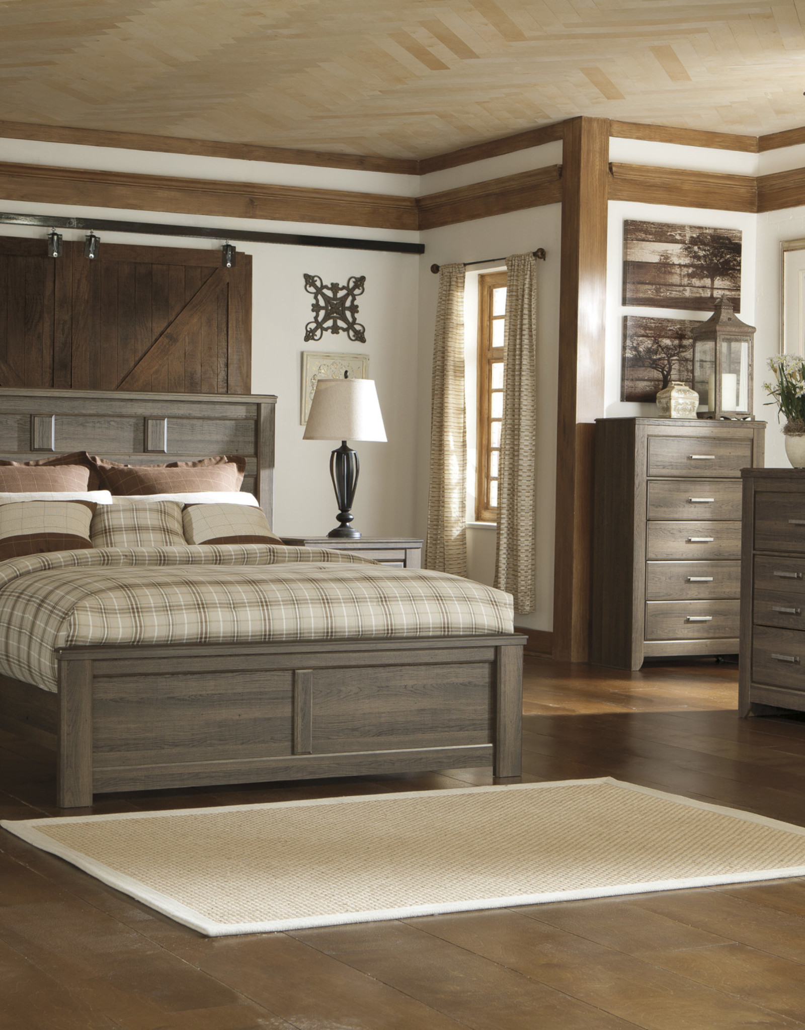 Juararo Bed (includes headboard, footboard, and rails)